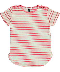 "Obsessive Love Big Girls' ""Striped Crisscross"" Top (Sizes 7 – 16) - CookiesKids.com"
