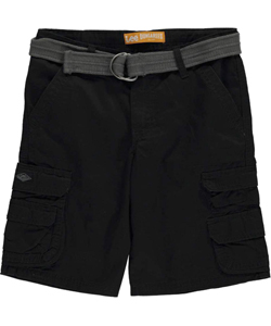 "Lee Big Boys' Husky ""Midnight Cell Pocket"" Belted Cargo Shorts (Sizes 8H – 20H) - CookiesKids.com"