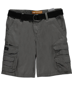 "Lee Big Boys' Husky ""Stormy Cell Pocket"" Belted Cargo Shorts (Sizes 8H – 20H) - CookiesKids.com"