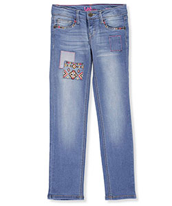 "Lee Big Girls' ""Aztec Patched"" Skinny Jeans (Sizes 7 – 16) - CookiesKids.com"