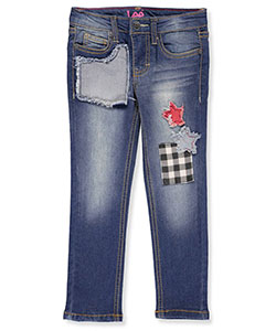"Lee Little Girls' ""Stars Over Plaid"" Skinny Jeans (Sizes 4 – 6X) - CookiesKids.com"