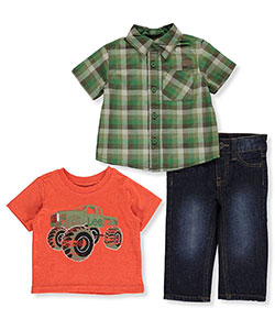 "Lee Baby Boys' ""Monster Truck"" 3-Piece Outfit - CookiesKids.com"