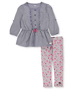 Lee Little Girls' Toddler 2-Piece Outfit (Sizes 2T - 4T) - CookiesKids.com