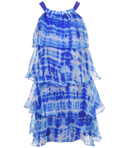 "Cool & Cute Big Girls' ""Tiered Tie-Dye"" Dress (Sizes 7 – 16) - CookiesKids.com"