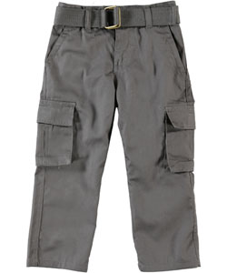 LR Little Boys' Toddler Scoop Twill Cargo Pants (Sizes 2T - 4T) - CookiesKids.com