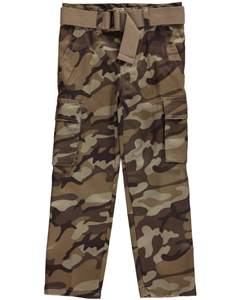"LR Scoop Little Boys' ""Camo Twill"" Belted Cargo Pants (Sizes 4 – 7) - CookiesKids.com"