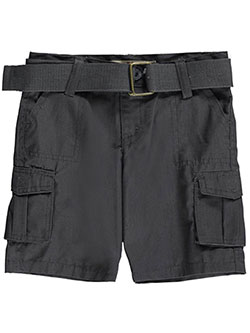"LR Scoop Baby Boys' ""Go Grid"" Belted Cargo Shorts - CookiesKids.com"