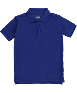 Classic School Uniform Big Boys' Pique Polo (Sizes 8 – 20) - CookiesKids.com