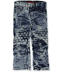 "LR Scoop Baby Boys' ""Denim Basket Weave"" Jeans - CookiesKids.com"