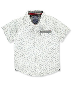 "Faze 1 Baby Boys' ""Paper Planes"" S/S Button-Down - CookiesKids.com"