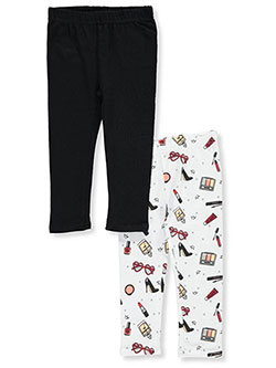 "Pink Velvet Baby Girls' ""Glamour Print & Solid"" 2-Pack Leggings - CookiesKids.com"