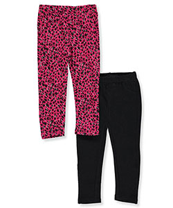 "Pink Velvet Baby Girls' ""Animal & Solid"" 2-Pack Jeggings - CookiesKids.com"