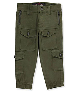"LR Scoop Baby Boys' ""Patch N' Zip"" Cargo Joggers - CookiesKids.com"