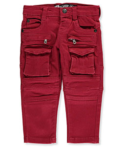 "LR Scoop Baby Boys' ""Moto Patch"" Cargo Jeans - CookiesKids.com"