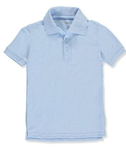 Classic School Uniform Little Boys' S/S Pique Polo Shirt (Sizes 4 – 7) - CookiesKids.com
