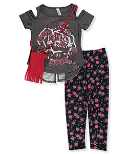 Pink Velvet Little Girls' Toddler 2-Piece Outfit with Purse (Sizes 2T – 4T) - CookiesKids.com