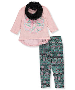 Pink Velvet Little Girls' Toddler 3-Piece Outfit (Sizes 2T – 4T) - CookiesKids.com