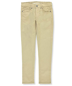 Pink Velvet Girls' Twill Skinny Pants - CookiesKids.com