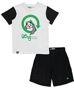 "LRG Big Boys' ""Panda Point"" 2-Piece Outfit (Sizes 8 – 20) - CookiesKids.com"