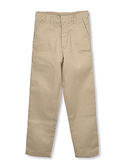 Genuine Big Boys' Flat Front Twill Pants (Sizes 8 - 20) - CookiesKids.com