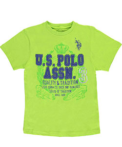 "U.S. Polo Assn. Big Boys' ""Felt Logo"" T-Shirt (Sizes 8 – 20) - CookiesKids.com"