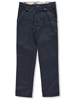 Genuine Big Girls' Button Flap Flat Front Pants (Sizes 7 - 16) - CookiesKids.com