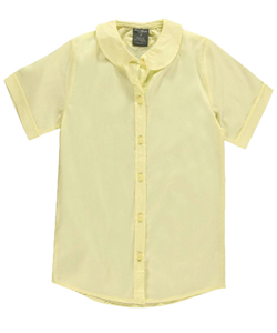 Eddie Bauer Big Girls' Peter Pan Collar S/S Blouse (Sizes 7 - 16) - CookiesKids.com