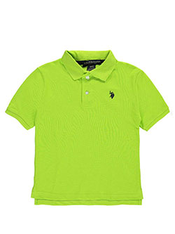 "U.S. Polo Assn. Big Boys' ""Esplanade"" Pique Polo (Sizes 8 – 20) - CookiesKids.com"