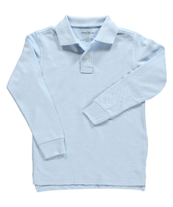 Eddie Bauer Little Boys' L/S Knit Polo (Sizes 4 - 7) - CookiesKids.com