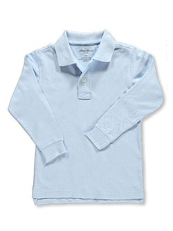 Eddie Bauer Big Boys' L/S Pique Polo (Sizes 8 - 20) - CookiesKids.com