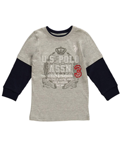 "U.S. Polo Assn. Little Boys' Toddler ""Banner Crest"" Slider (Sizes 2T - 4T) - CookiesKids.com"