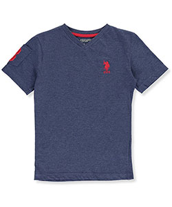 "U.S. Polo Assn. Little Boys' ""Sleeve Pocket"" T-Shirt (Sizes 4 – 7) - CookiesKids.com"