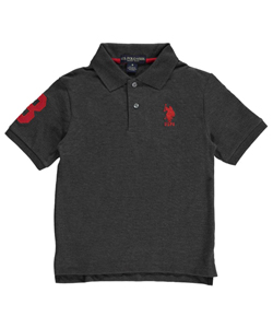 "U.S. Polo Assn. Big Boys' ""Logo 3 Sleeve"" Pique Polo (Sizes 8 – 20) - CookiesKids.com"
