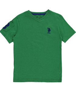 "U.S. Polo Assn. Big Boys' ""Sleeve Pocket"" T-Shirt (Sizes 8 – 20) - CookiesKids.com"