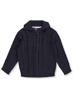 "U.S. Polo Assn. Little Girls' ""Cable Comfort"" Cardigan (Sizes 4 – 6X) - CookiesKids.com"
