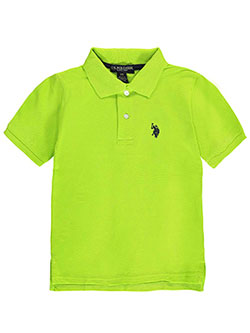 "U.S. Polo Assn. Little Boys' ""Esplanade"" Pique Polo (Sizes 4 – 7) - CookiesKids.com"