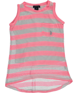 "U.S. Polo Assn.  Little Girls' ""Greenport"" Tank Top (Sizes 4 – 6X) - CookiesKids.com"