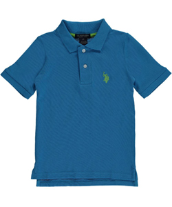 "U.S. Polo Assn. Little Boys' Toddler ""Regulation Polo"" Pique Polo (Sizes 2T – 4T) - CookiesKids.com"