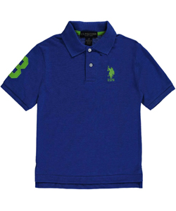 "U.S. Polo Assn. Little Boys' Toddler ""Logo 3 Sleeve"" Pique Polo (Sizes 2T – 4T) - CookiesKids.com"