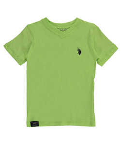 "U.S. Polo Assn. Little Boys' ""Slub Textured"" T-Shirt (Sizes 4 – 7) - CookiesKids.com"