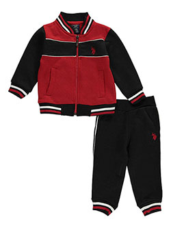 "U.S. Polo Assn. Baby Boys' ""Logo Shield"" 2-Piece Fleece Sweatsuit - CookiesKids.com"