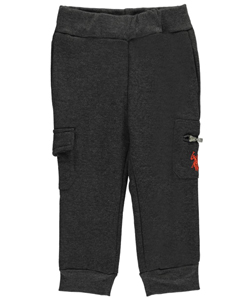"U.S. Polo Assn. Baby Boys' ""Cargo Zip"" Fleece Joggers - CookiesKids.com"