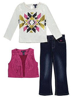 "Limited Too Little Girls' Toddler ""Triangle Burst"" 3-Piece Outfit (Sizes 2T – 4T) - CookiesKids.com"