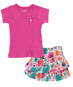 "Sweet Vintage Baby Girls' ""Cool Garden"" 2-Piece Outfit - CookiesKids.com"