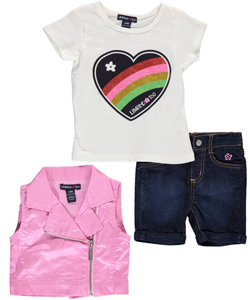 "Limited Too Baby Girls' ""Rainbow Heart"" 3-Piece Outfit - CookiesKids.com"