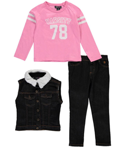 "Limited Too Little Girls' Toddler ""Varsity 78"" 3-Piece Outfit (Sizes 2T – 4T) - CookiesKids.com"