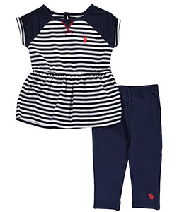 "U.S. Polo Assn. Little Girls' Toddler ""Courtside"" 2-Piece Outfit (Sizes 2T – 4T) - CookiesKids.com"