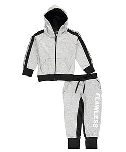 "Limited Too Little Girls' ""Flawless"" 2-Piece French Terry Sweatsuit (Sizes 4 – 6X) - CookiesKids.com"