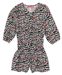 "Pinkhouse Big Girls' ""Butterfly Crossover"" L/S Romper (Sizes 7 – 16) - CookiesKids.com"