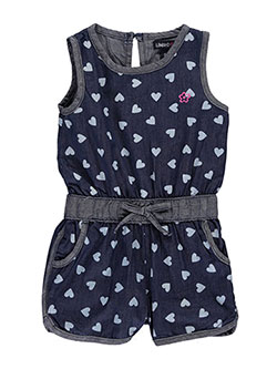 "Limited Too Baby Girls' ""Heart Print Chambray"" Romper - CookiesKids.com"